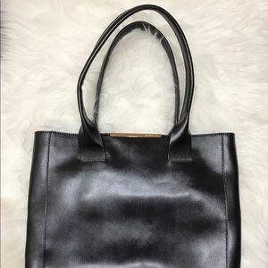 BCBG Magazine Tote Bag Purse Leather